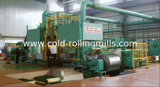 China Carbon Steel 6 Hi Cold Rolling Mill , Hydraulic Pressure Down Cold Rolling Machine supplier