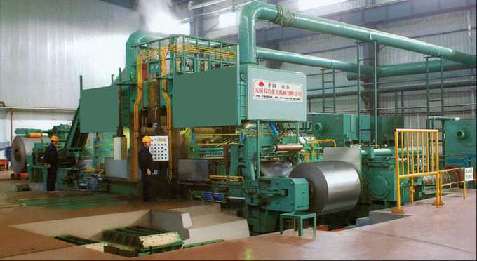 Carbon Steel 6 Hi Cold Rolling Mill , Hydraulic Pressure Down Cold Rolling Machine